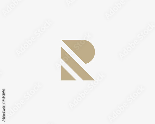 Photo  Stripes letter R vector logotype. Creative abc logo icon design.