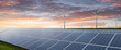 Leinwandbild Motiv Solar und Windenergie Hintergrund