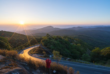 The Photographer Take A Photograph In The Morning With Sunrise At Viewpoint Of Doi Inthanon National Park, The Top Highest Mountain Of Thailand