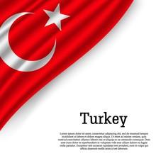 Flag Turkey On White Background