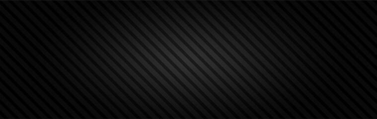 Czarne tło oświetlenie z ukośnymi paskami. Wektorowy abstrakcjonistyczny tło