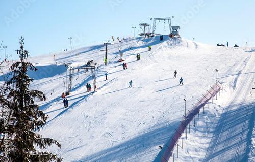 Fotografie, Obraz  Liepkalnis Ski Route in Vilnius