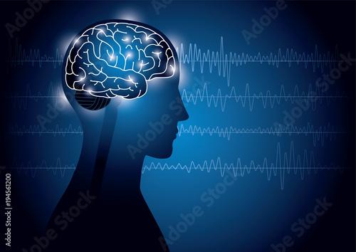 Valokuva  脳波のイメージ