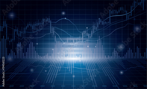 Fototapeta グラフ 株などの経済イメージ obraz