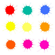 Collection Of Colorful Paint S...
