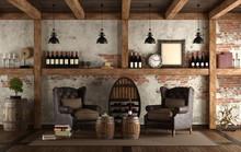Home Wine Cellar In Retro Style