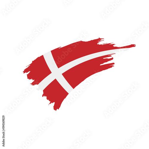 Denmark flag, vector illustration Tapéta, Fotótapéta