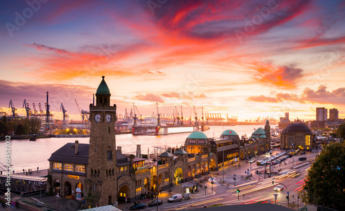 Plakat Hamburg Skyline