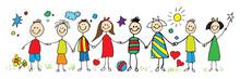 Children Group Holding Hand