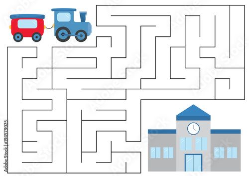 Fotografía Educational maze game for preschool kids