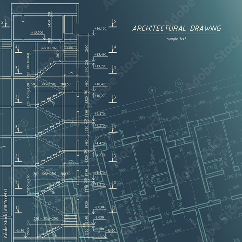 Architectural blueprint building background buy this stock architectural blueprint building background malvernweather Image collections