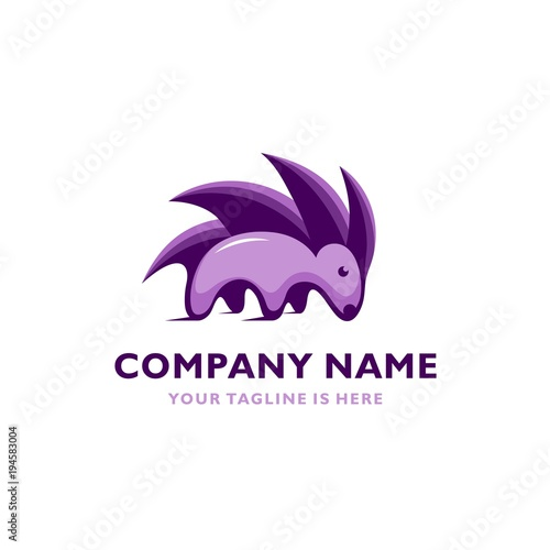 cute porcupine symbol vector icon logo template buy this stock