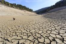 Empty Lake At Bimont Dam Near ...