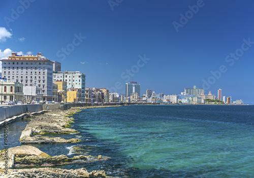 Deurstickers Havana Malecon Havana