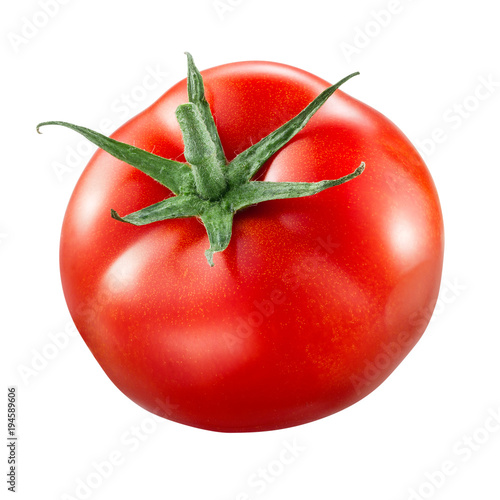 Tomato isolated. Tomato on white. With clipping path.