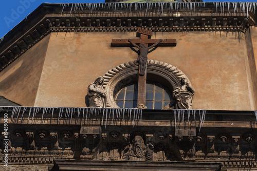 Foto op Aluminium Oude gebouw LVIV, UKRAINE - March 1, 2018. Chapel of the Boim family, Historic Centre of Lviv.