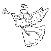 Coloring Book For Children, Angel