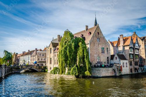 Deurstickers Brugge Canal in Bruges