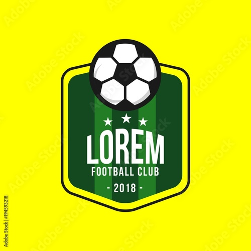 Photo  Football Club Logo Vector Template Design