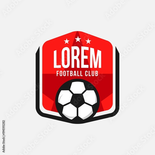 Football Club Logo Vector Template Design Wallpaper Mural