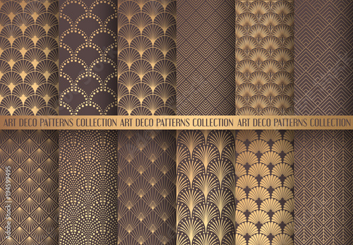 Photo  Art Deco Patterns Set