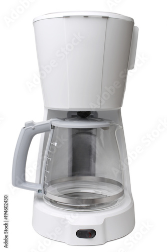 Drip coffee maker with glass pot