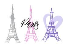 Vector Of A Paris Eiffel Tower