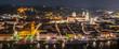canvas print picture - Passau bei Nacht