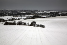 View Across Fields From Morley Leeds West Yorkshire