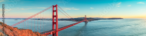 Spoed Fotobehang Bruggen Golden Gate bridge, San Francisco California