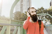 Bearded Guy With Headphones On...