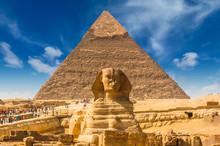 Egyptian Sphinx. Cairo. Giza. ...