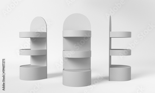 Fotografie, Obraz  Round Product Display Shelf