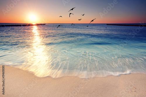 Fototapeta Romantik am Strand genießen obraz