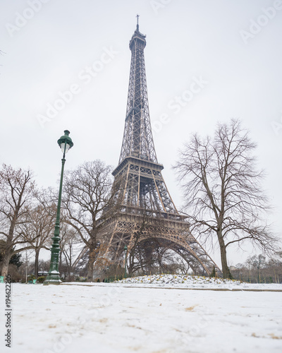 Papiers peints Paris Paris under the snow MArch 1st 2018