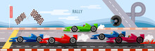 Car Racing Banner, Cars On A S...