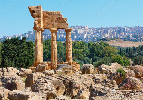 Valley of Temples, Agrigento, Sicily, Italy Canvas Print