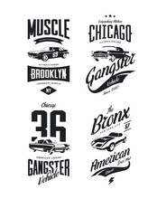 Vintage Classic Gangster, Musc...