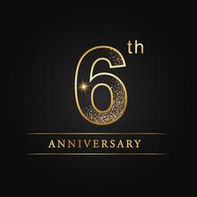 Anniversary,aniversary, Six Years Anniversary Celebration Logotype. 6th Anniversary Logo. Sixth Years.