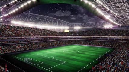 Fototapeta Soccer Stadium with Illumination