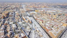Aerial View Of A Group Of Buil...