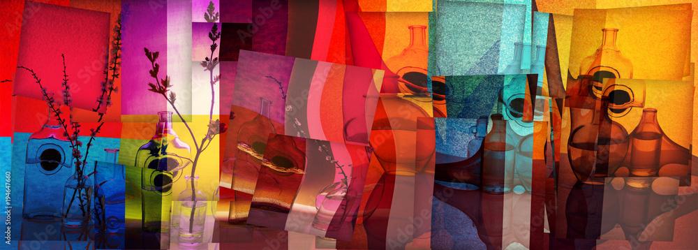 Fototapeta Collage of still lifes