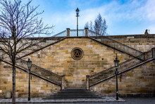 Stairs To Charles Bridge
