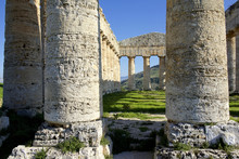 Italy, Sicily, Segesta. Greek Temple Is Made Of 36 Columns.