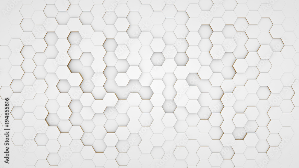 Fototapeta Clear pattern abstract background hexagon white
