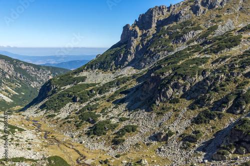 Foto op Aluminium Grijze traf. The valley of Malyovishka river, Rila Mountain, Bulgaria