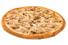Pizza With Chicken And Mushroo...