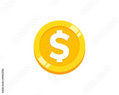 Fototapeta Coin Icon Logo Design Element obraz