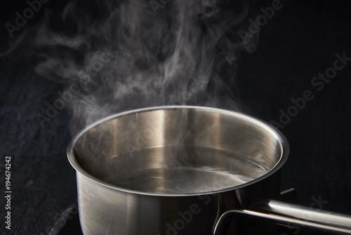 熱水の湯気 Canvas Print