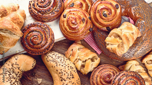 Photo sur Aluminium Boulangerie Bakery ingredients